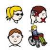 People with different disabilities.