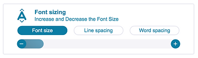 Font Sizing settings