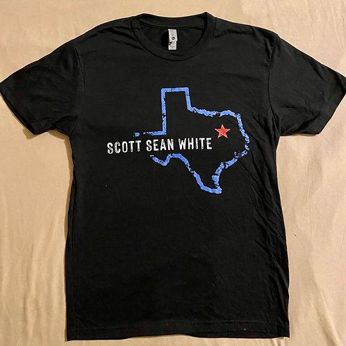 Scott Sean White Black Tee