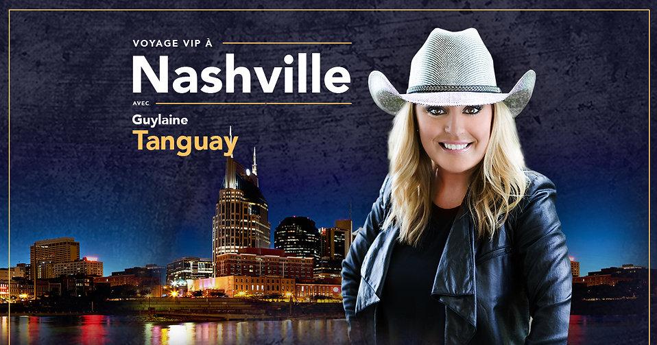 Voyage VIP Nashville avec Guylaine Tanguay