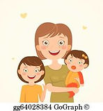 mother-and-daughters-vector-art_gg640283