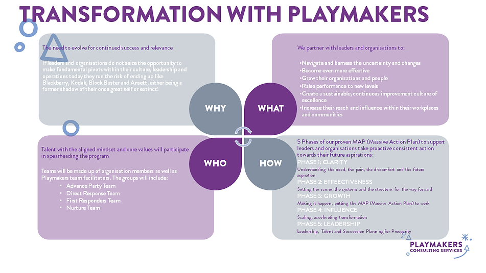 The Playmakers Playbook 2020 Transformat