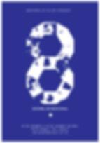 A logomarca da 8ª Bienal do Mercosul, criada pelos artistas e designers Angela Detanico e Rafael Lain, toma como ponto de partida o Dymaxion map – mapa-múndi criado por Buckminster Fuller – que apresenta os continentes sem fronteiras políticas. Este mapa é desconstruído e seus componentes são reorganizados, formando um 8, onde os fragmentos de território sugerem um mapa novo e mutável. O mesmo principio combinatório foi utilizado para propor um tipo de letra especial, chamado Polígona, que é usado em todo o material gráfico da Bienal.