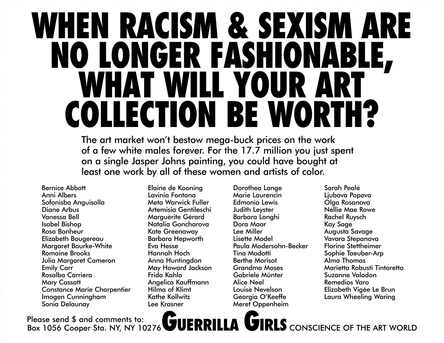 When racism and sexism are no longer fashionable, how much will your art collection be worth
