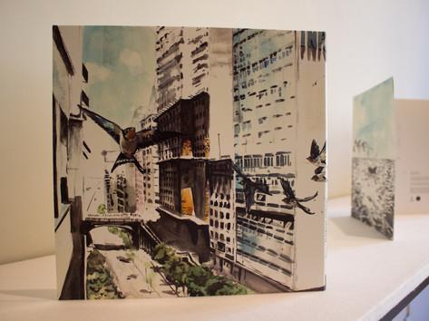 9ª Bienal do Mercosul - Obra Um cabo lá, um porto cá, do artista Mário Garcia Torres, no Memorial do Rio Grande do Sul.
