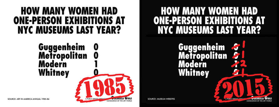 How many women had solo shows at NYC museums? Recount (NYC street campaign),