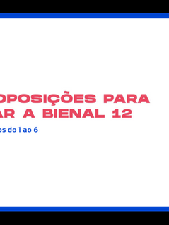 Proposições do Educativo Bienal 12 - Parte 1