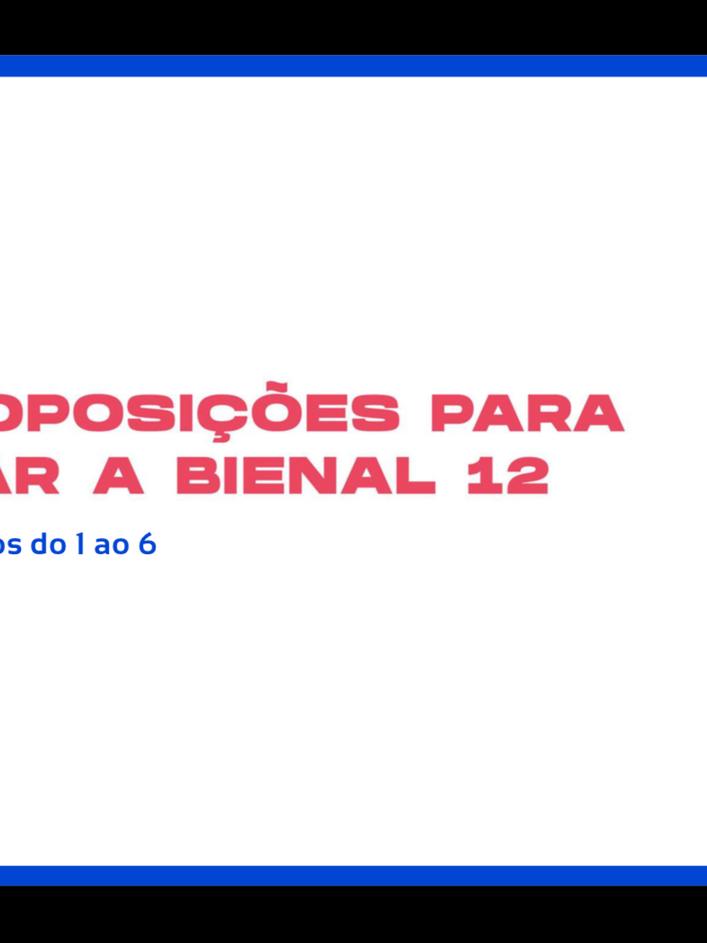 Proposições do Educativo Bienal 12 - Parte 1
