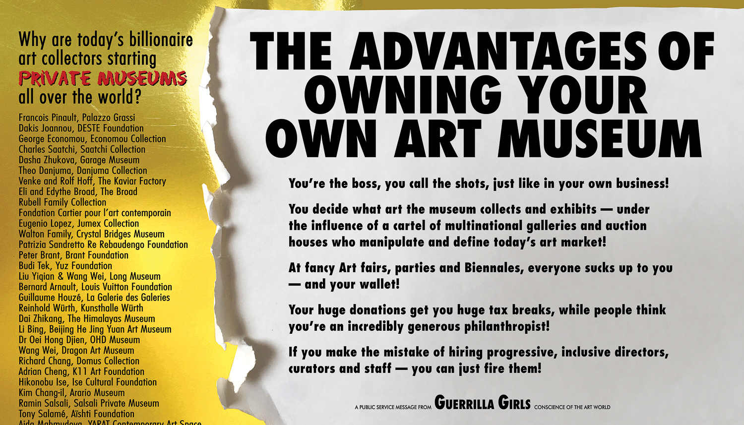 Advantages of owning your own Art Museum