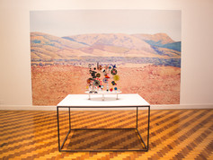 9ª Bienal do Mercosul - Obra Solar Do-(it-yourself) nothing toy. After Charles Eames, do artista Edgar Orlaineta, no Memorial do Rio Grande do Sul.