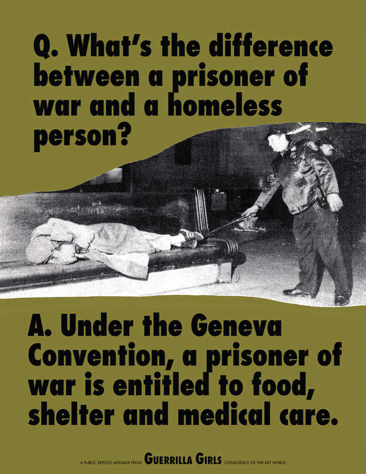 What's the difference between a prisoner of war and a homeless person?