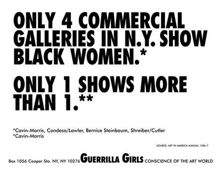 Only 4 commercial galleries in NY show black women