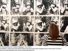 8ª Bienal do Mercosul - Projeto Pedagógico - No MARGS, a Segunda Coordenadoria Regional de Educação de São Leopoldo visita a mostra Além Fronteiras. Obra de Carlos Pasqueti