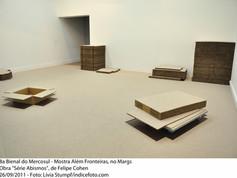 """8ª Bienal do Mercosul - Mostra Além Fronteiras, no MARGS. Obra """"Série Abismos"""", de Felipe Cohen"""