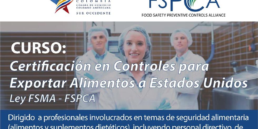 Certificación en Controles para exportar alimentos a Estados Unidos
