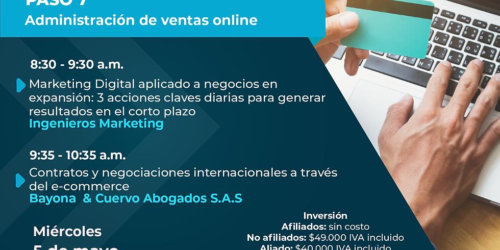 Paso 7 - Ruta Exportadora: Administración ventas online