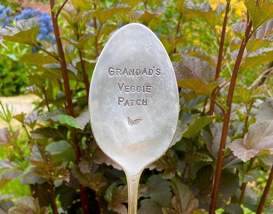 Grandad's Veggie Patch Garden Marker
