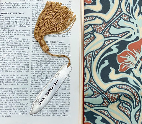 Cats - Books - Gin Bookmark