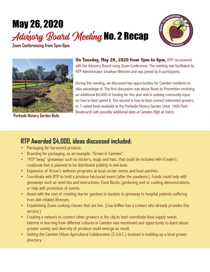 May 26 Advisory Board Summary (Part 2)