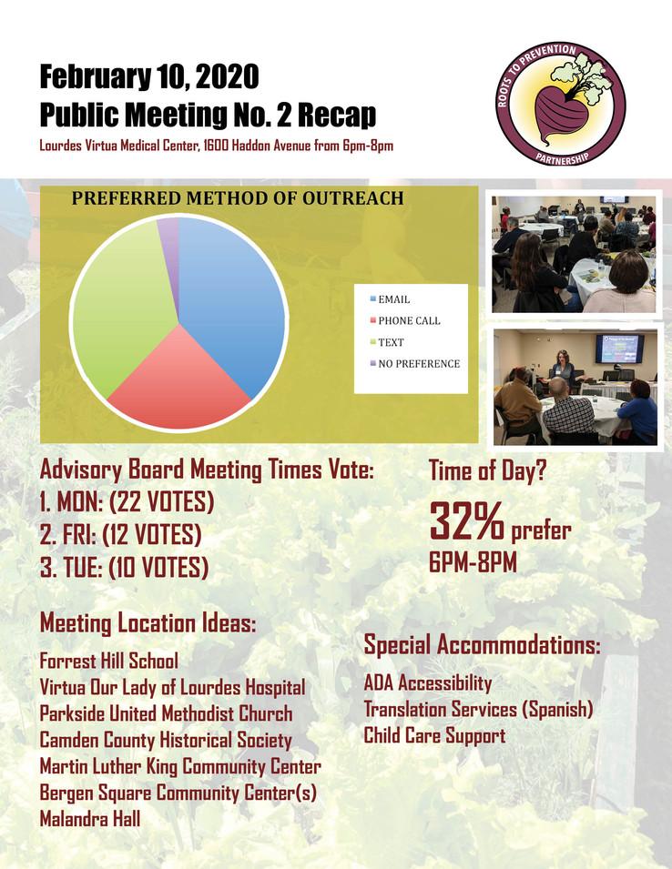 February 10th Public Meeting