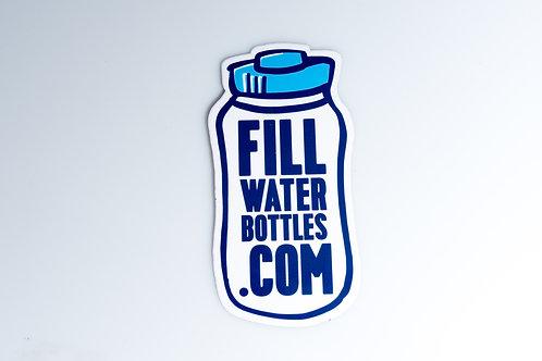 FillWaterBottles.com Sticker