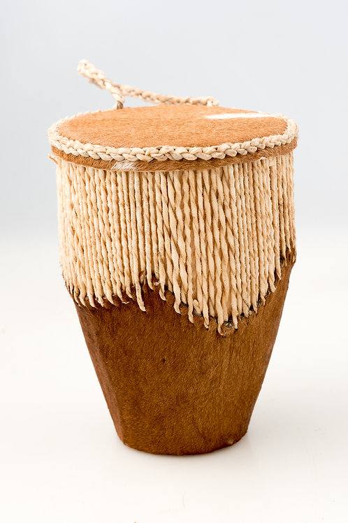 Hand-Crafted Fur Drum