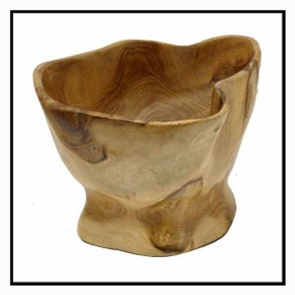 Hand carved root bowl