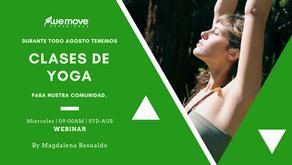 ¿Webinars gratuitos de yoga? ¡Sí! Todos los miércoles de agosto a las 9 de la mañana