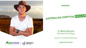 Australia Survival English: ¡Un nuevo webinar junto a WE MOVE!