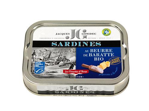 Sardines au beurre de baratte bio - 115 g