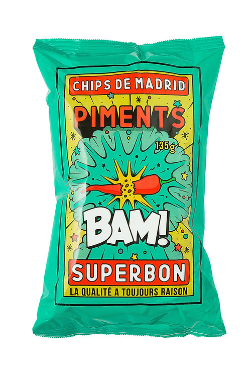 Chips de Madrid - Piment - 135 g