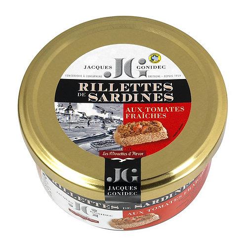Rillettes de sardines aux tomates fraîches - 90 g