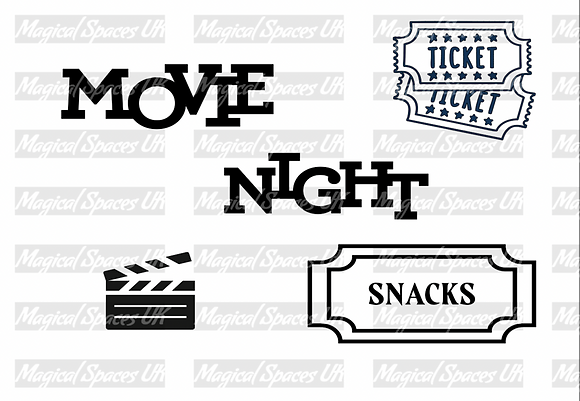 Movie Night Downloadable Tray Insert