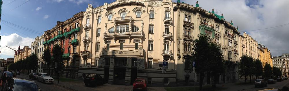 Riga - Gebäude in der Albert-Straße