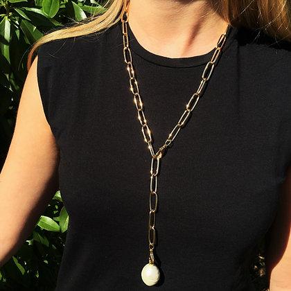 Cadena Casiopea con perla