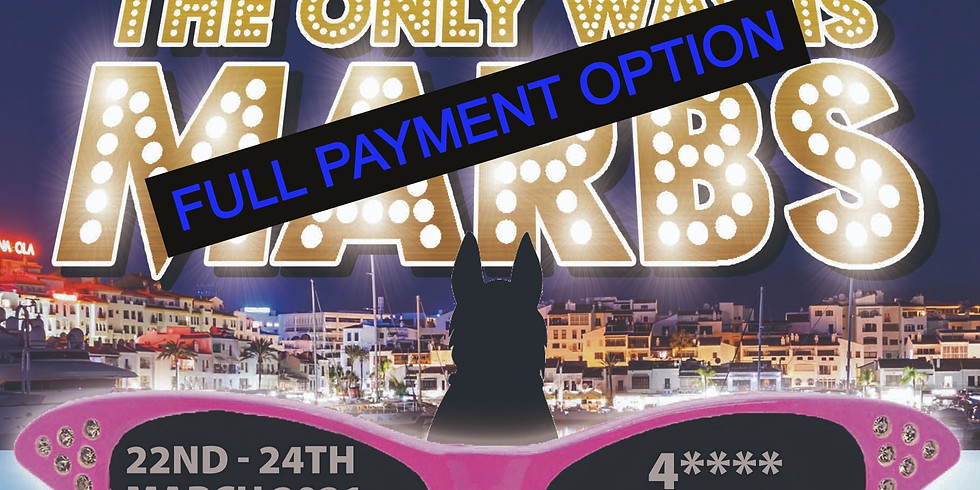 The only way is marbs - Full payment