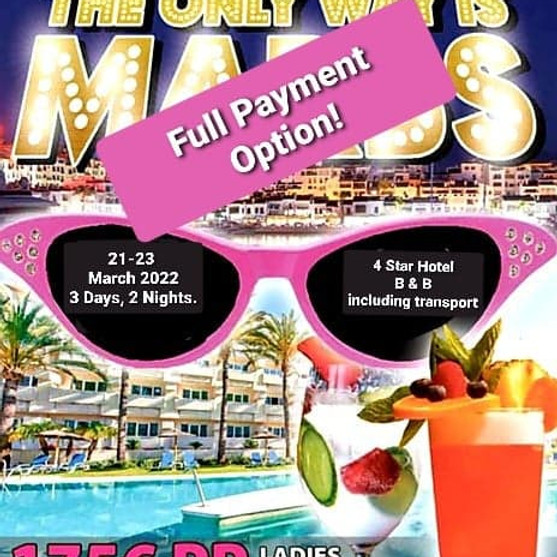 The Only Way is Marbs - Full Payment option