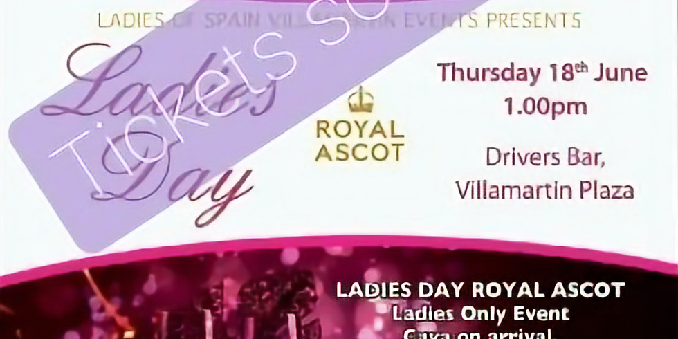 Ladies day at Ascot - This event is sold out