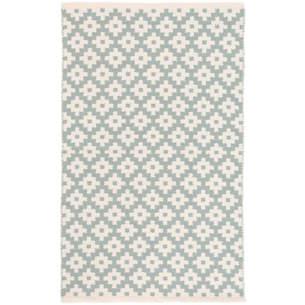 Samode light blue ivory indoor/outdoor rug