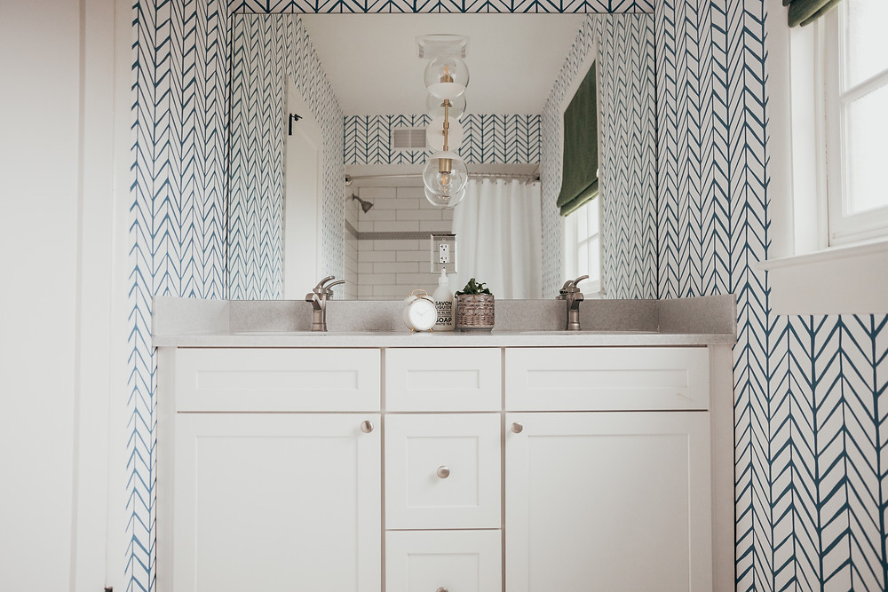 Kids Bathroom Remodel by Christine McCall Home, a Pittsburgh based interior design studio.