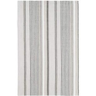 Ticking stripe indoor/outdoor rug