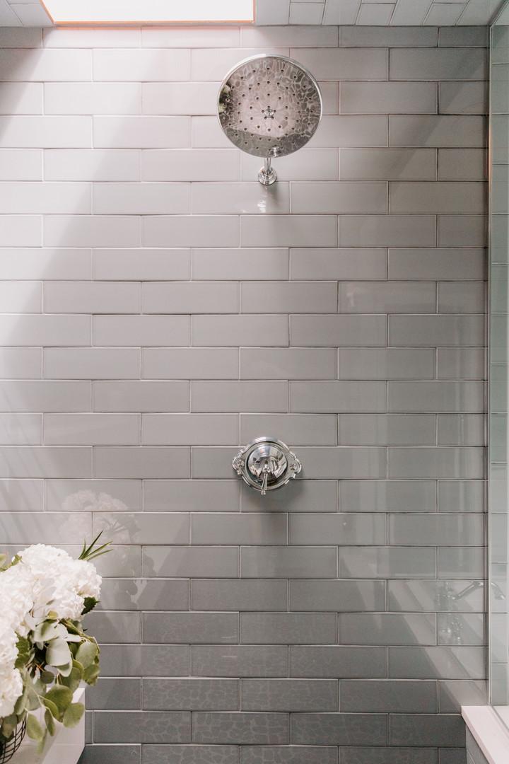 Subway Tile in Master Bathroom