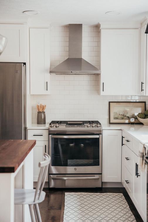 Open Range Hood in Kitchen