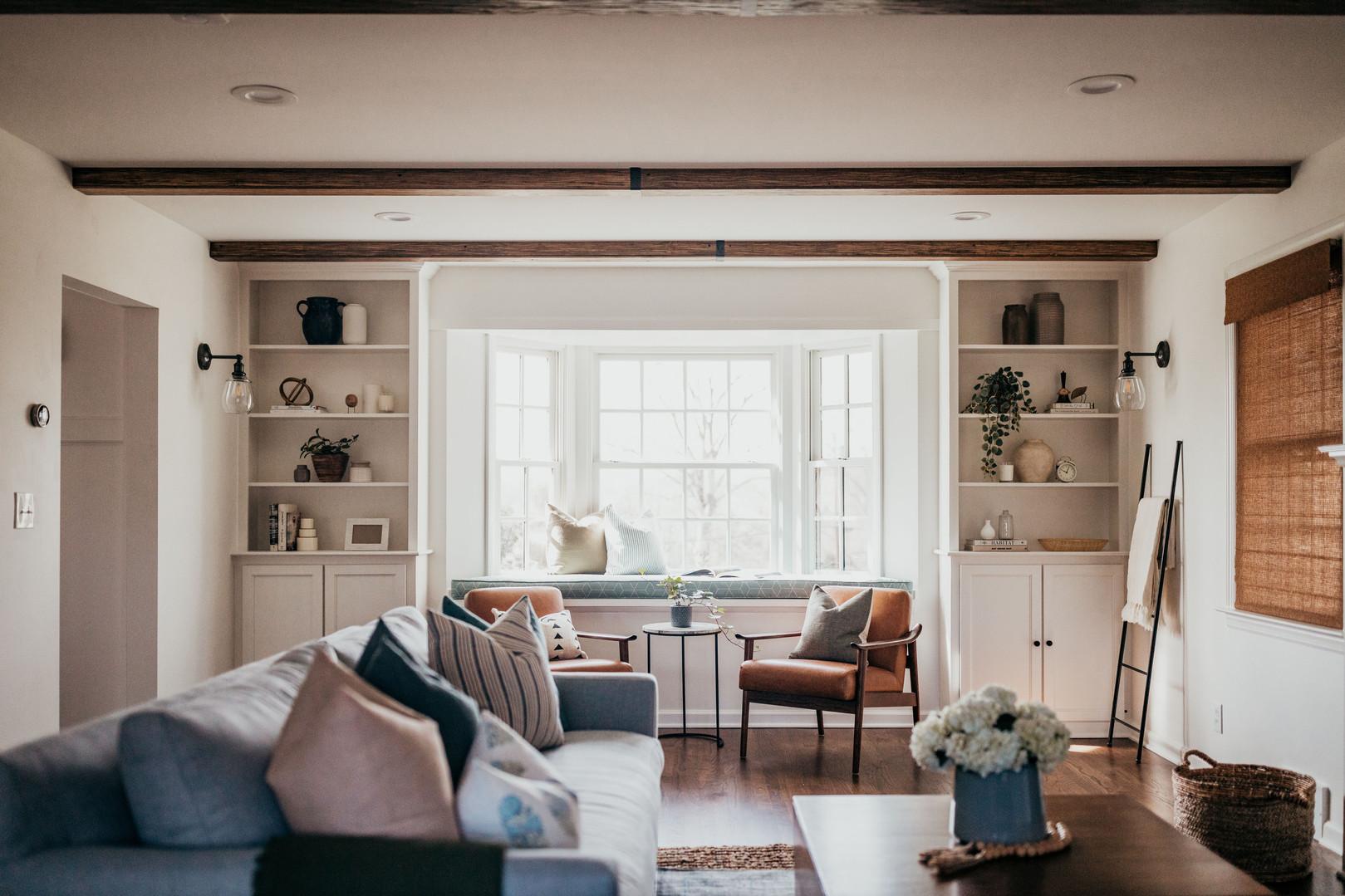 Living Room Wood Beams