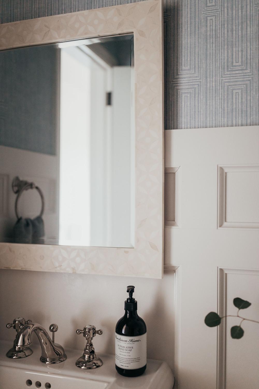 Powder Bath Wallpaper Inspiration by Christine McCall Home, a Pittsburgh PA Interior Design Studio