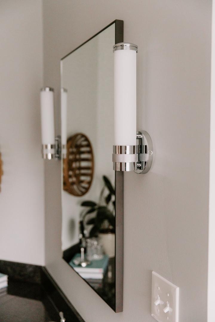 Single Light Sconce for Bathroom Vanity