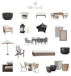 Outdoor Furniture Round Up by Christine McCall Home, a Pittsburgh, PA based Interior Design Studio