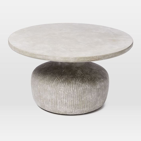 TAMBOR CONCRETE OUTDOOR DRUM COFFEE TABLE