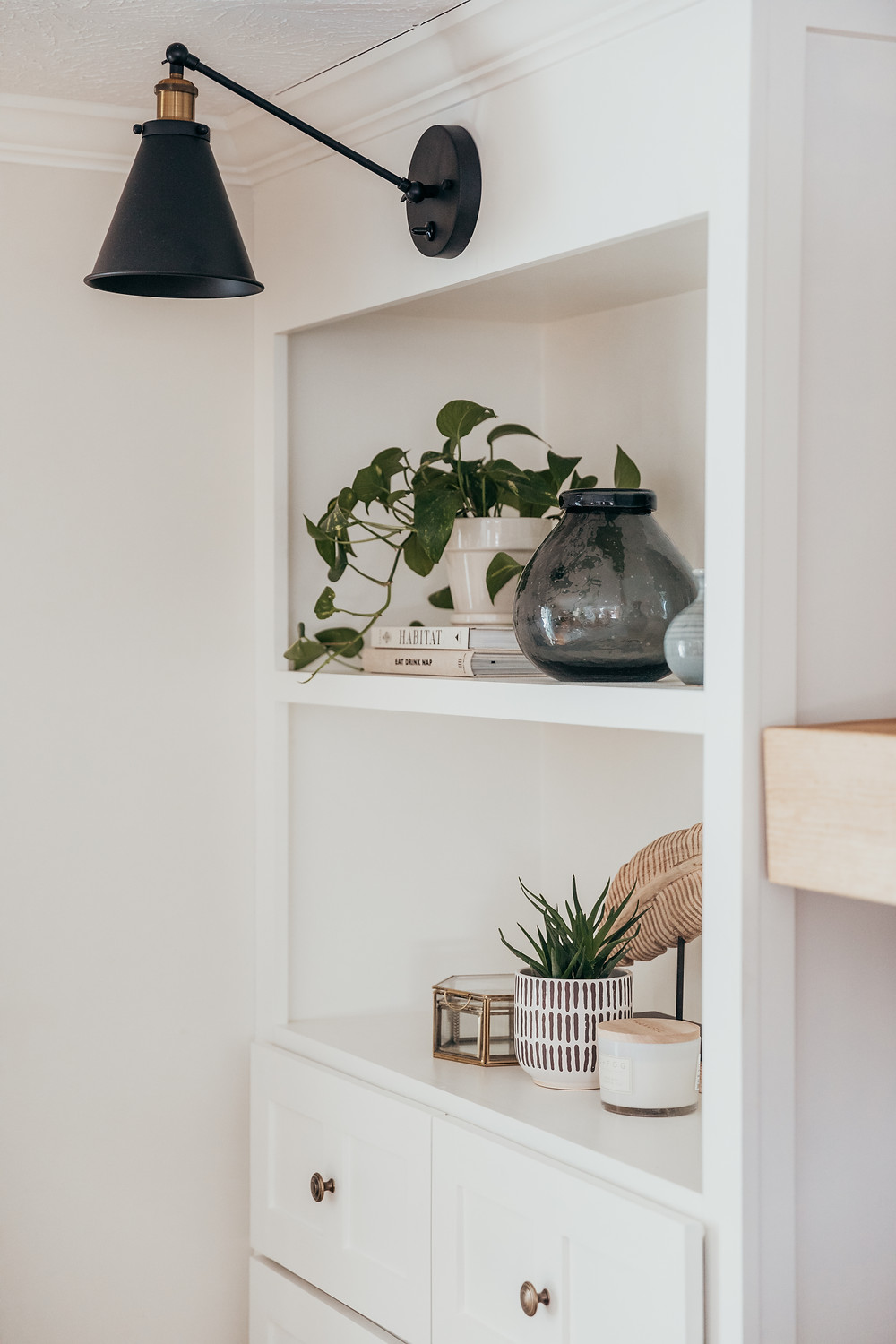 Shelf styling by Christine McCall Home, a Pittsburgh based interior designer