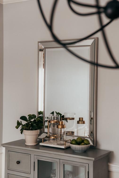 Rectangular Silver Mirror